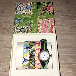 Vera Bradley changeable watch set